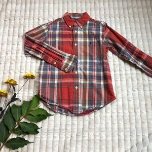 Ralph Lauren boys shirt plaid size 5